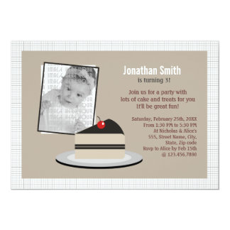 Slice of Cake 5x7 Paper Invitation Card