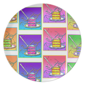 Slice of Cake Pop Art Plate