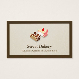 Slice of Cakes Chocolate Strawberry - Simple Chic Business Card