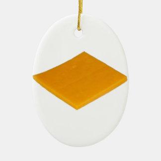 Slice of Cheese Ceramic Ornament