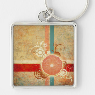 Slice of Citrus Abstract Keychain