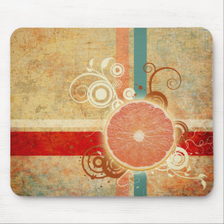 Slice of Citrus Abstract Mouse Pad