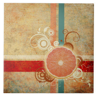 Slice of Citrus Abstract Tile