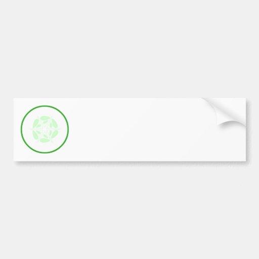 Slice of Cucumber. Green and White. Bumper Sticker