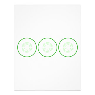 Slice of Cucumber. Green and White. Flyer