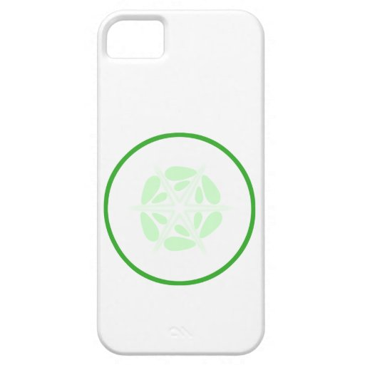 Slice of Cucumber. Green and White. iPhone 5 Cover