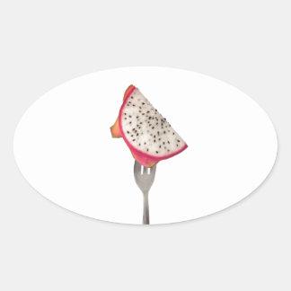 Slice of dragonfruit oval sticker