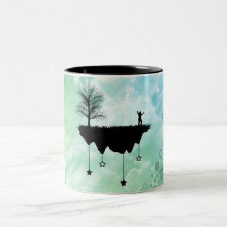 Slice of Earth Two-Tone Coffee Mug