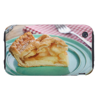 Slice of fresh baked apple pie on plate iPhone 3 tough case