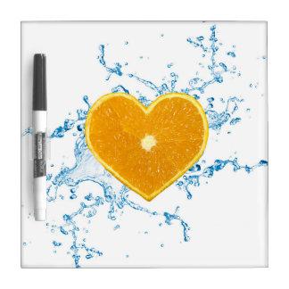 Slice of Heart Shaped Orange - Dry Erase Board