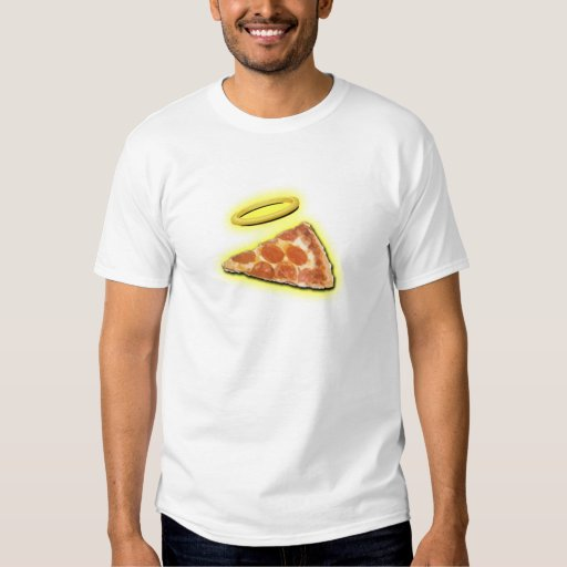 Slice of Heaven Pizza with Halo T-Shirt