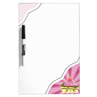 Slice of Kawaii Cake with a Cherry on Top Dry-Erase Board