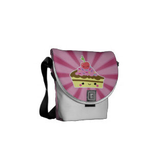 Slice of Kawaii Cake with a Cherry on Top Courier Bag