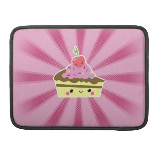 Slice of Kawaii Cake with a Cherry on Top Sleeve For MacBook Pro