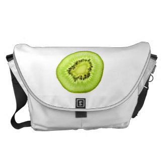 Slice of Kiwi Fruit. Messenger Bag. Courier Bag
