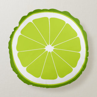 Slice Of Lime Round Pillow