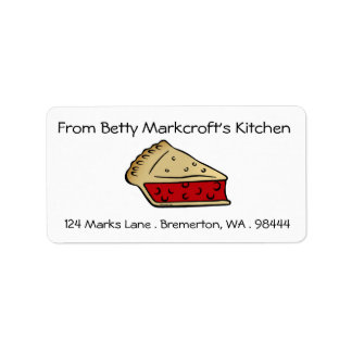 "Slice of Pie ""From Betty's Kitchen"" Labels"