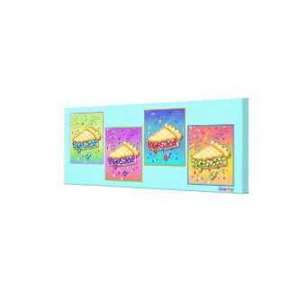 Slice of PIE Pop Art (long) Gallery Wrapped Canvas