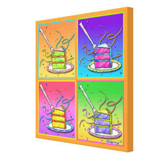Slice of Pop Art CAKE Gallery Wrapped Canvas