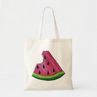 Slice of Watermelon w/ Seeds Fruit Fruity Pink Bag