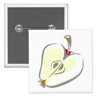 Sliced Apple 2 Inch Square Button