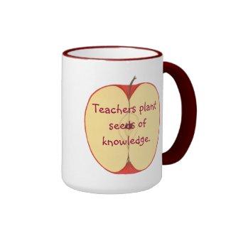Sliced Apple Teachers Plant Seeds of Knowledge Mug