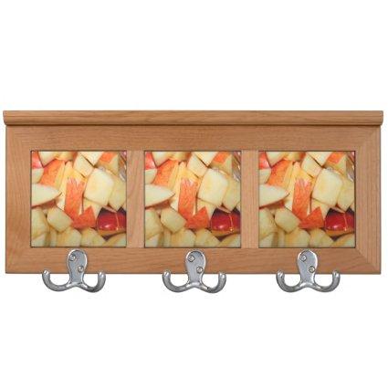 sliced apples image red apple food design coat racks