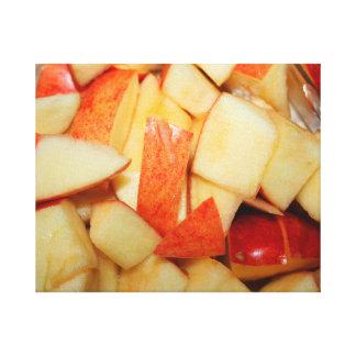 sliced apples image red apple food design canvas prints