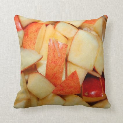 sliced apples image red apple food design throw pillow