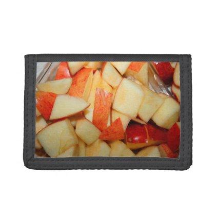 sliced apples image red apple food design wallet