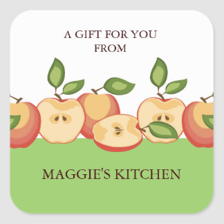 Sliced apples pies canning fruit lovers stickers