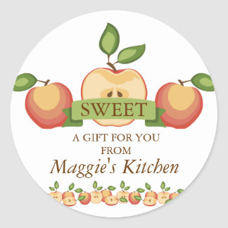 Sliced apples pies canning fruit lovers sticker