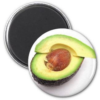 Sliced Avocado 2 Inch Round Magnet