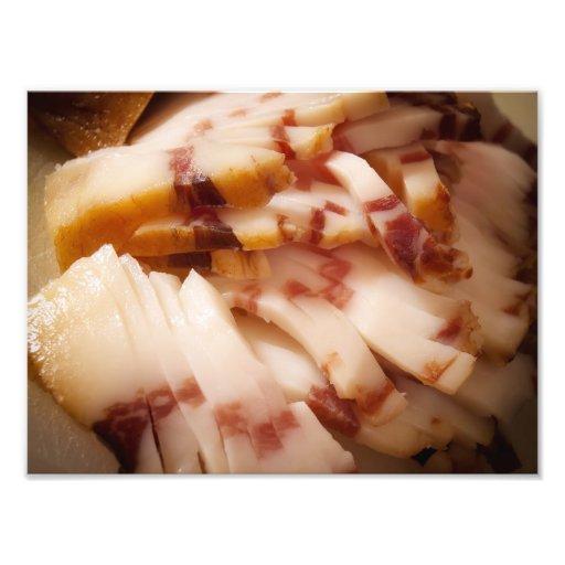 Sliced bacon photo art