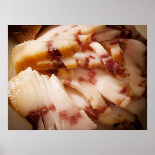 Sliced bacon print