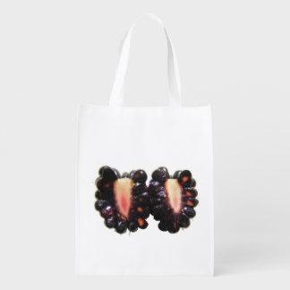 Sliced Blackberry ~ Poly bag Reusable Grocery Bag
