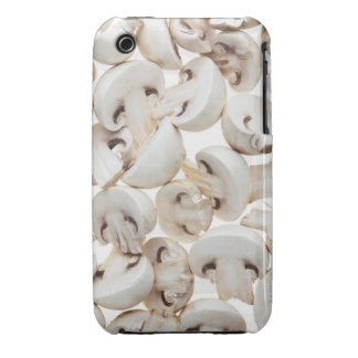 Sliced button mushrooms (agaricus bisporus), on iPhone 3 case