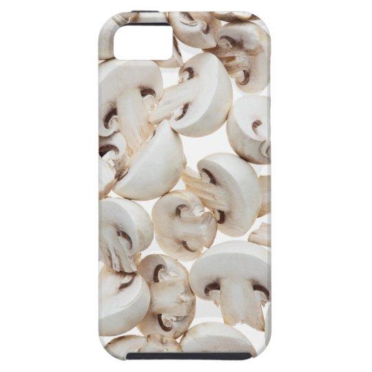Sliced button mushrooms (agaricus bisporus), on iPhone SE/5/5s case
