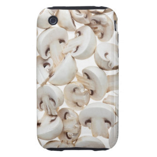 Sliced button mushrooms (agaricus bisporus), on tough iPhone 3 case