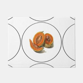 Sliced cantaloupe melon illustration doormat