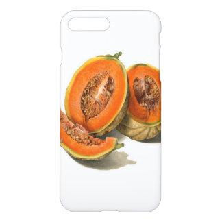 Sliced cantaloupe melon illustration iPhone 8 plus/7 plus case