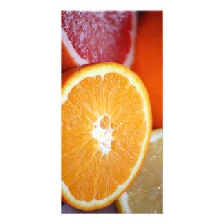SLICED CITRUS FRUITS ORANGES COLORFUL HEALTHY FOOD CARD