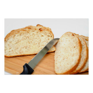 Sliced Cracked Wheat Sourdough Bread Poster