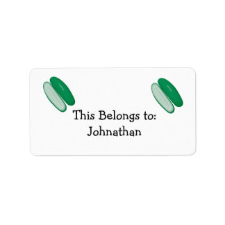 sliced cucumber label