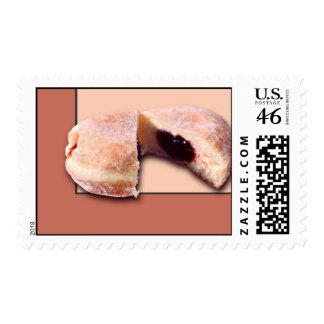 Sliced Donut Postage Stamps