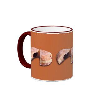 Sliced Donut Ringer Coffee Mug