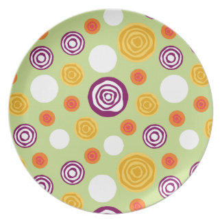 Sliced Dots Green Plate