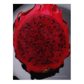 Sliced dragon fruit postcard