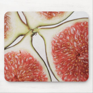 Sliced figs, close-up mouse pad