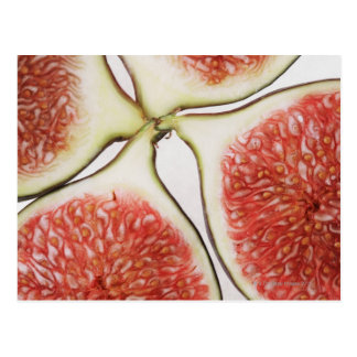 Sliced figs, close-up postcard